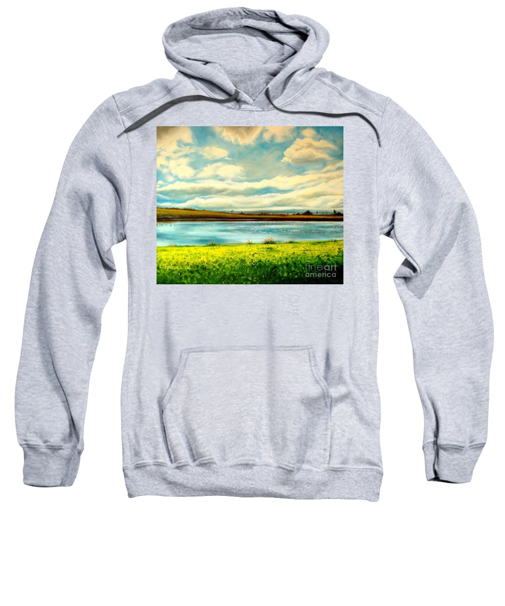Landscape Sweatshirt featuring the painting Am I Dreaming by Elizabeth Robinette Tyndall