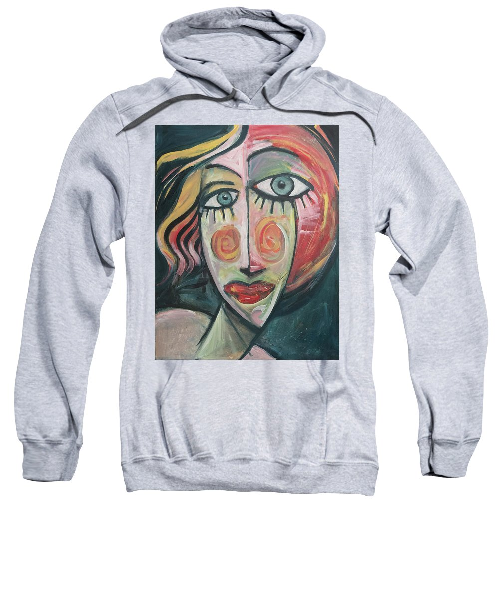 Woman Sweatshirt featuring the painting Amber by Tim Nyberg