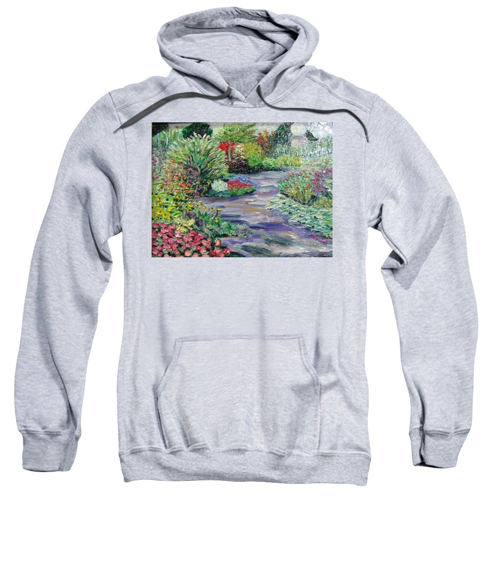 Park Sweatshirt featuring the painting Amelia Park Blossoms by Richard Nowak