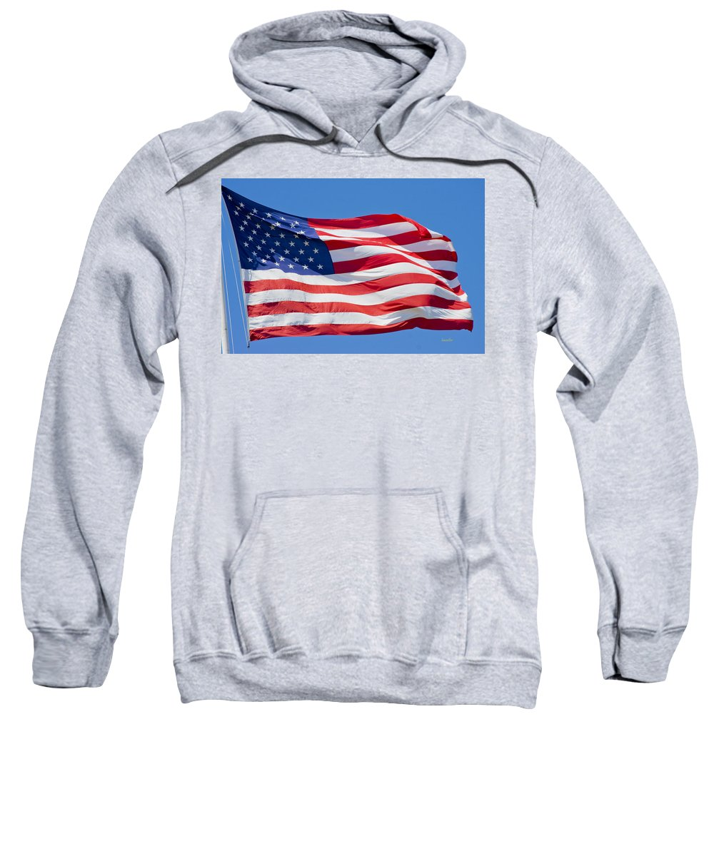 Harkers Island Sweatshirt featuring the photograph America by Betsy Knapp
