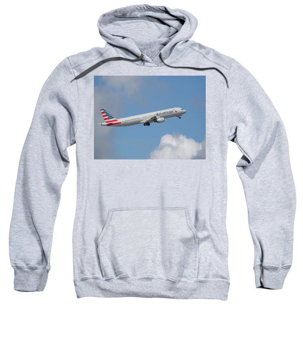 American Sweatshirt featuring the photograph American Air by Dart Humeston