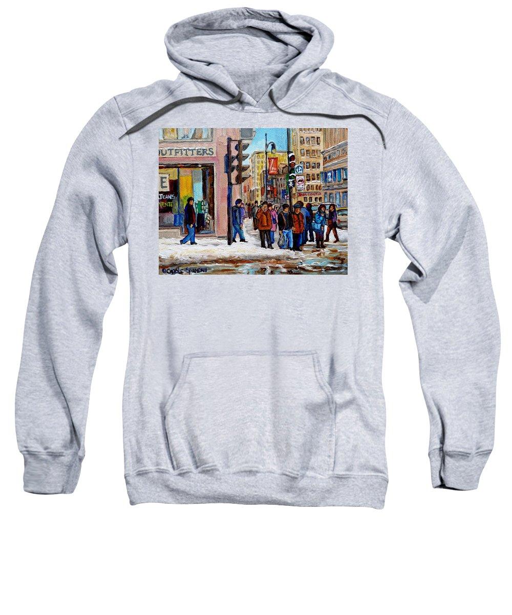 American Eagle Outfitters Sweatshirt featuring the painting American Eagle Outfitters by Carole Spandau