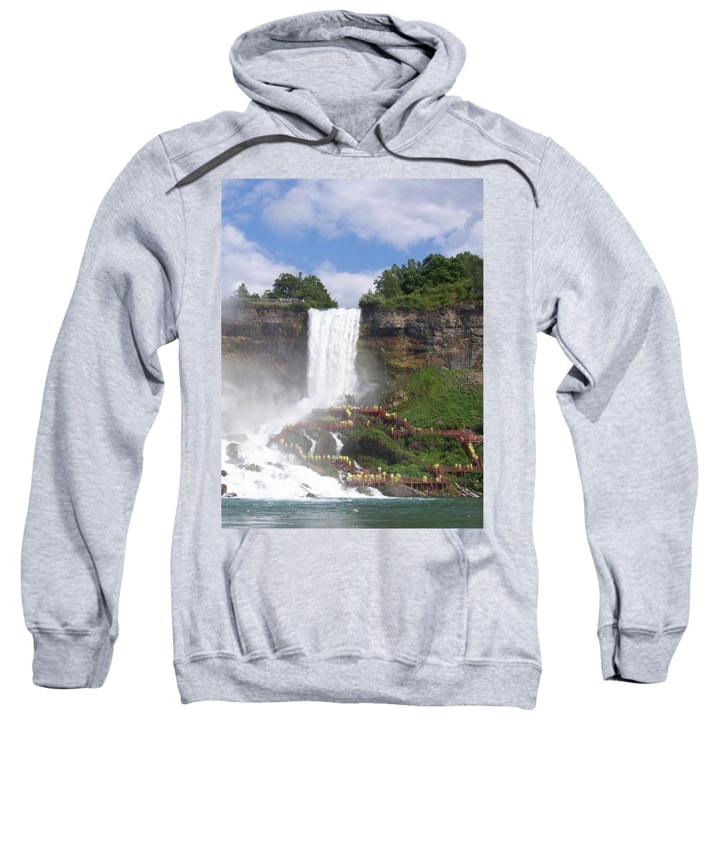 Niagra Falls Sweatshirt featuring the photograph American Falls At Niagra by Laurie Paci