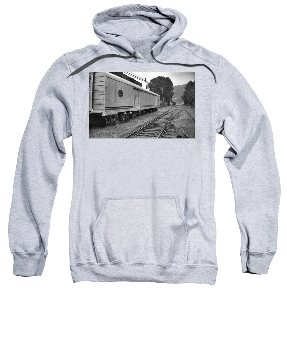Trains Sweatshirt featuring the photograph American Federail by Richard Rizzo