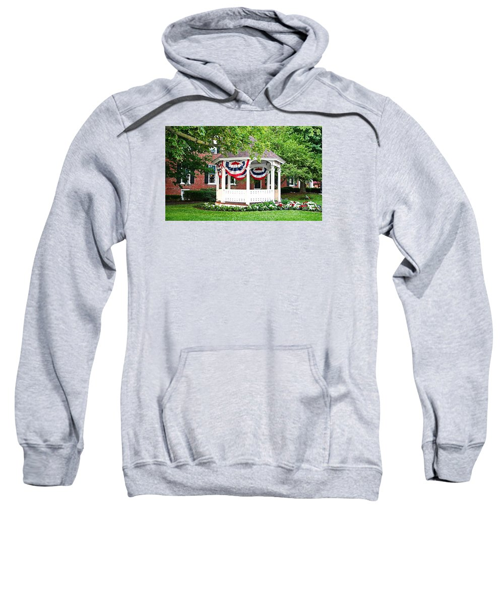 Gazebo Sweatshirt featuring the photograph American Gazebo by Margie Wildblood