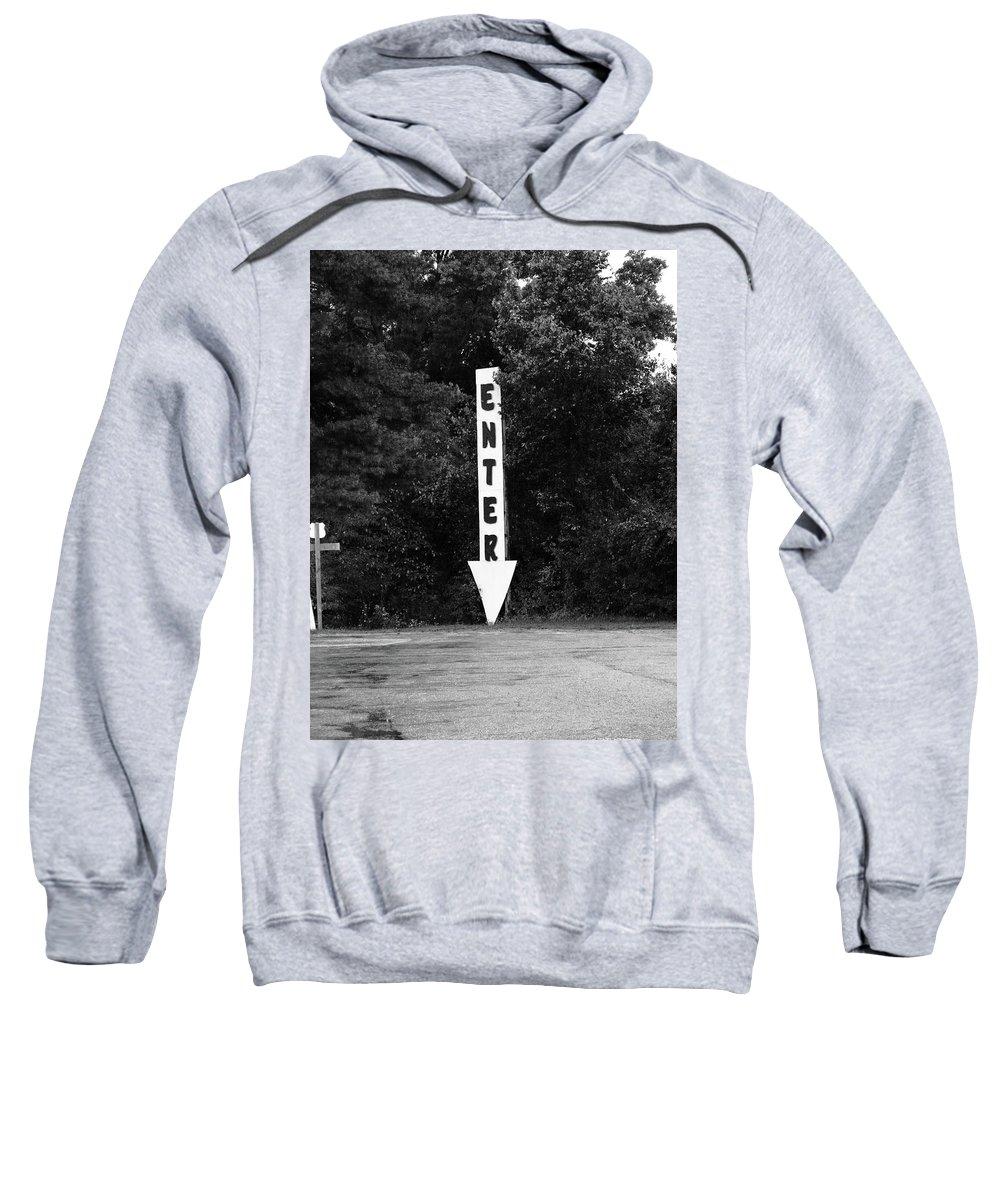 70 Sweatshirt featuring the photograph American Interstate - Missouri I-70 Bw by Frank Romeo