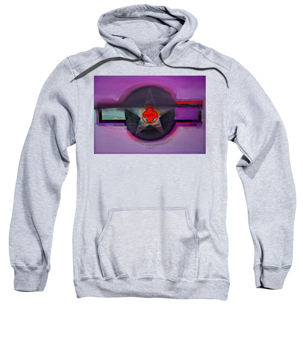 Star Sweatshirt featuring the painting American Lilac by Charles Stuart