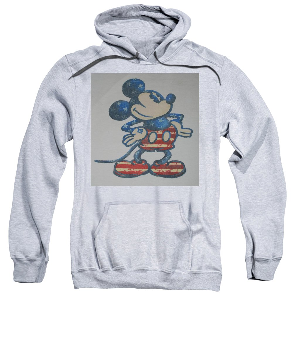 Disney Sweatshirt featuring the photograph American Mouse by Rob Hans
