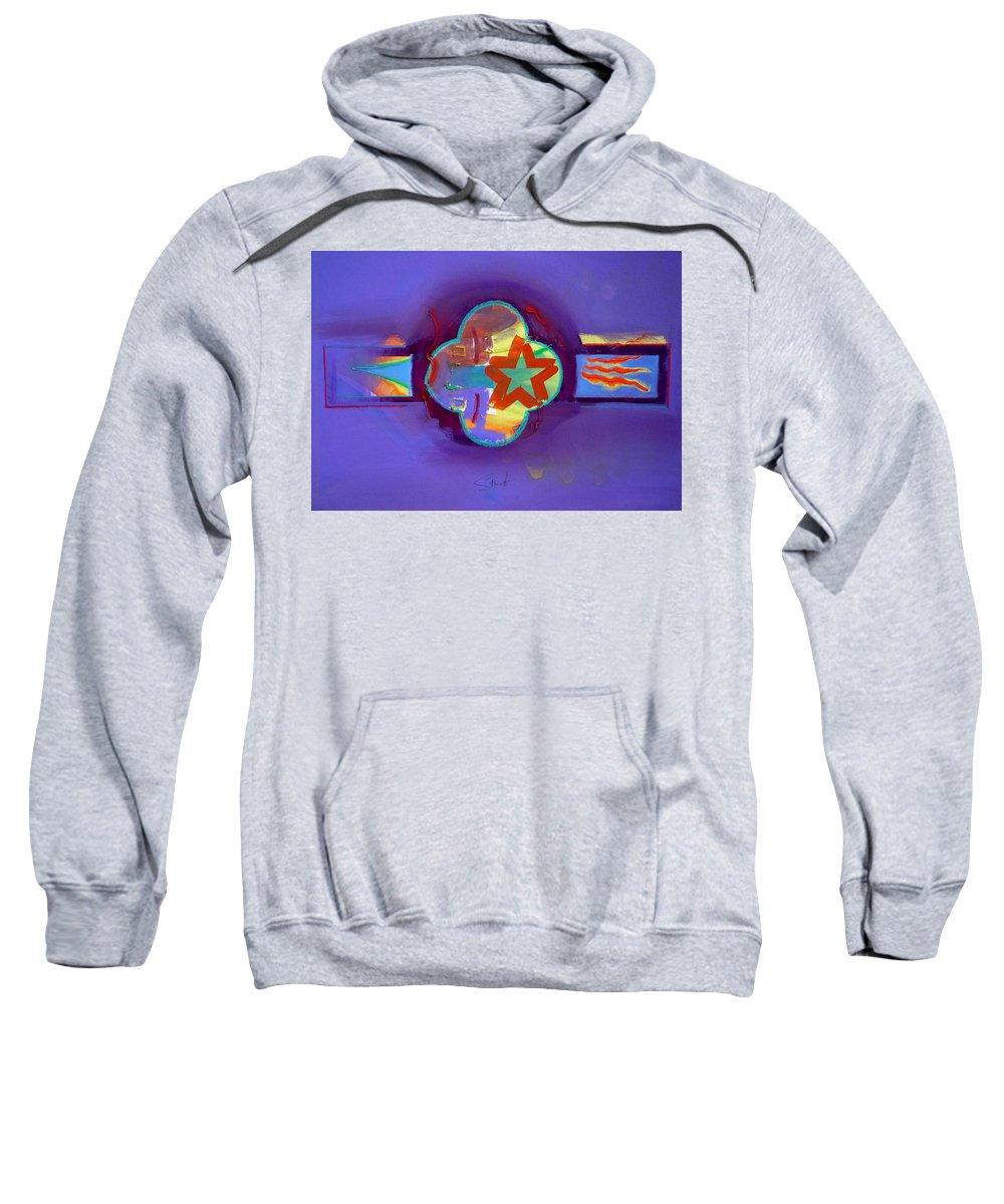Star Sweatshirt featuring the painting American Neon by Charles Stuart