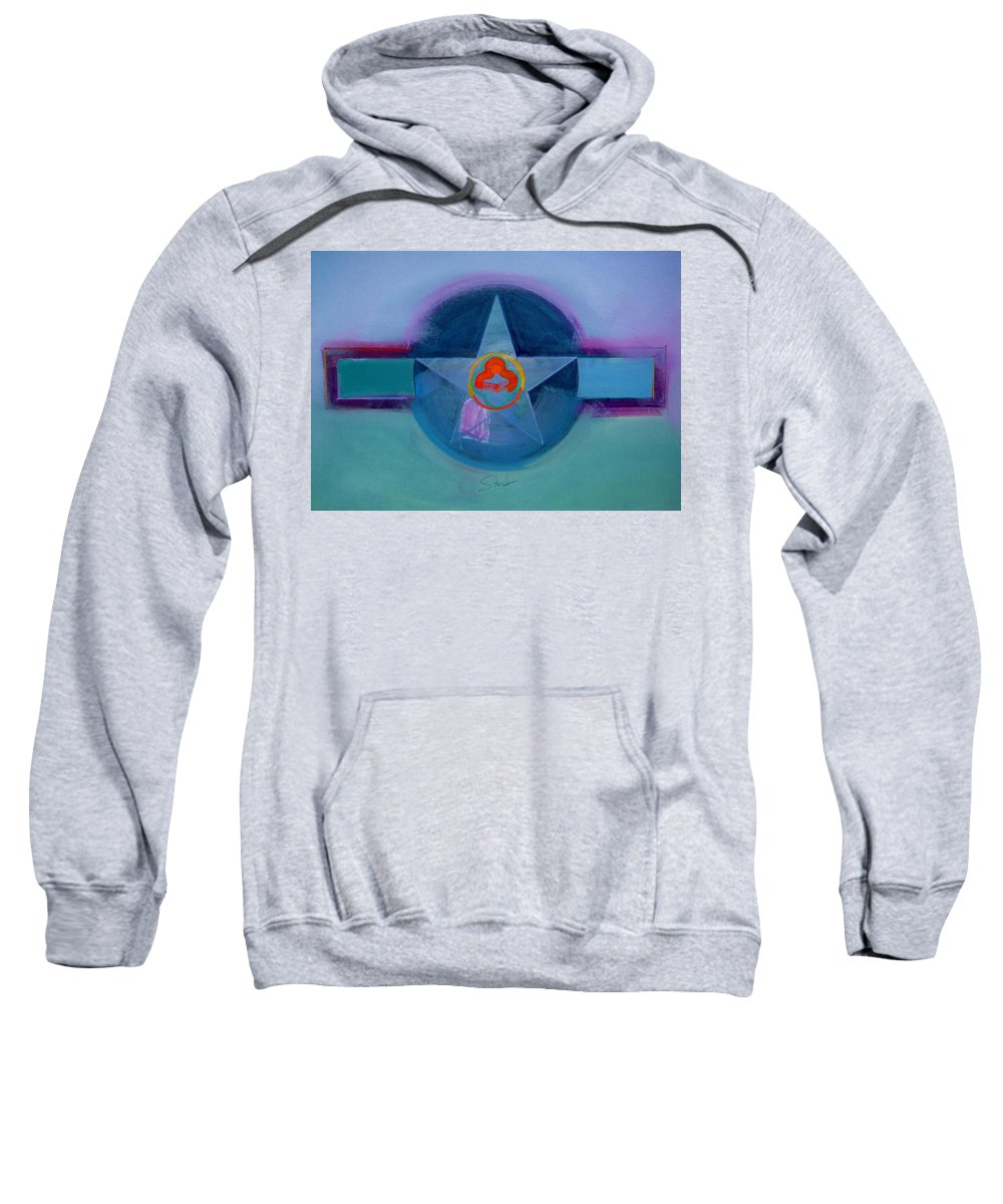 Star Sweatshirt featuring the painting American Spiritual by Charles Stuart