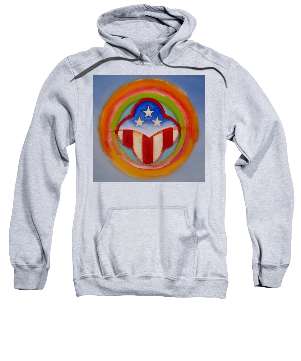 Logo Sweatshirt featuring the painting American Three Star Landscape by Charles Stuart