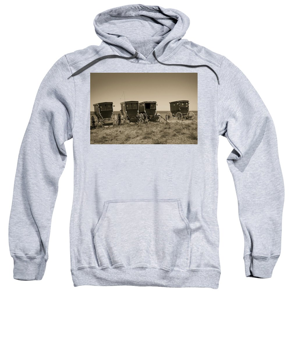Steven Bateson Sweatshirt featuring the photograph Amish Buggies by Steven Bateson