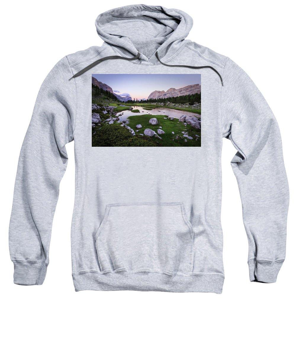 Dolomites Sweatshirt featuring the photograph Among The Giants by Gabor Boszormenyi