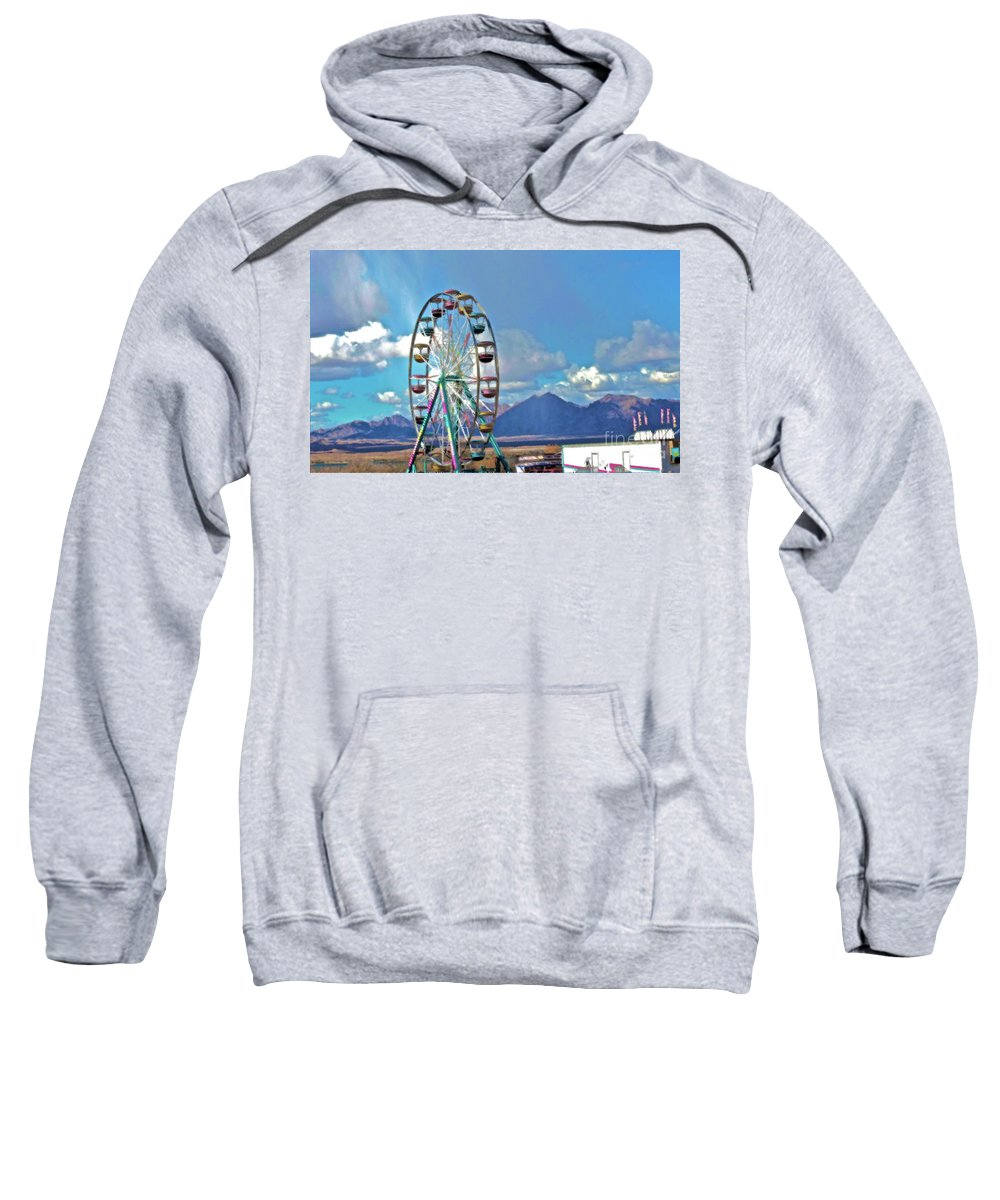 Carnival Sweatshirt featuring the photograph Amusement View by Gwyn Newcombe
