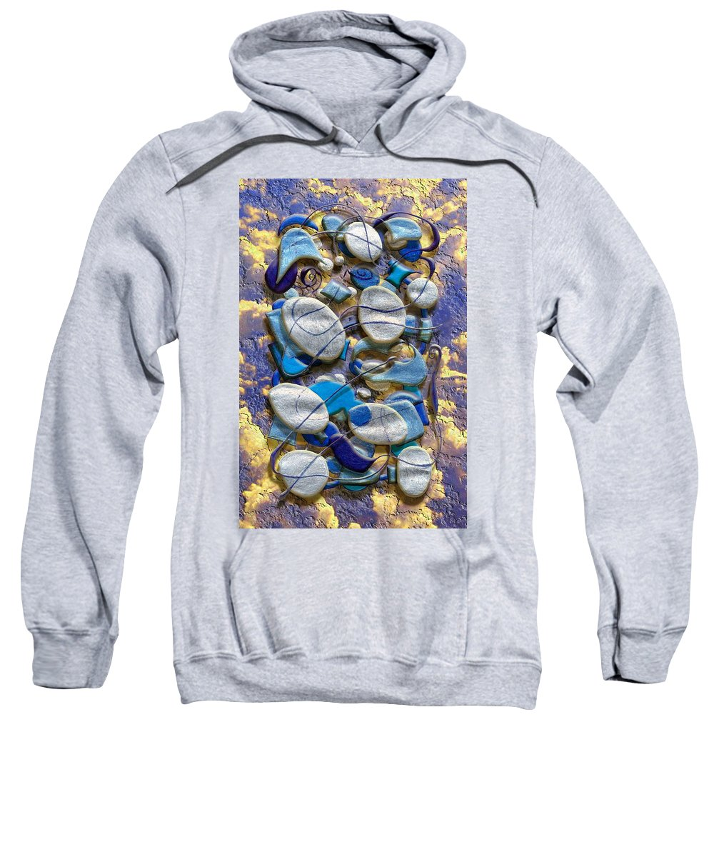 Abstract Sweatshirt featuring the digital art An Arrangement Of Stones by Mark Sellers