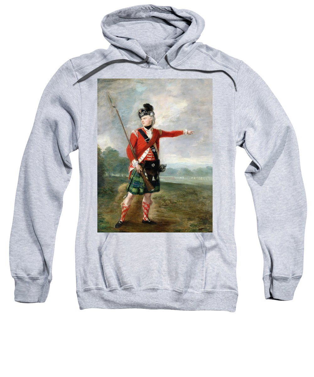 An Officer Of The Light Company Of The 73rd Highlanders Sweatshirt featuring the painting An Officer Of The Light Company Of The 73rd Highlanders by Scottish School