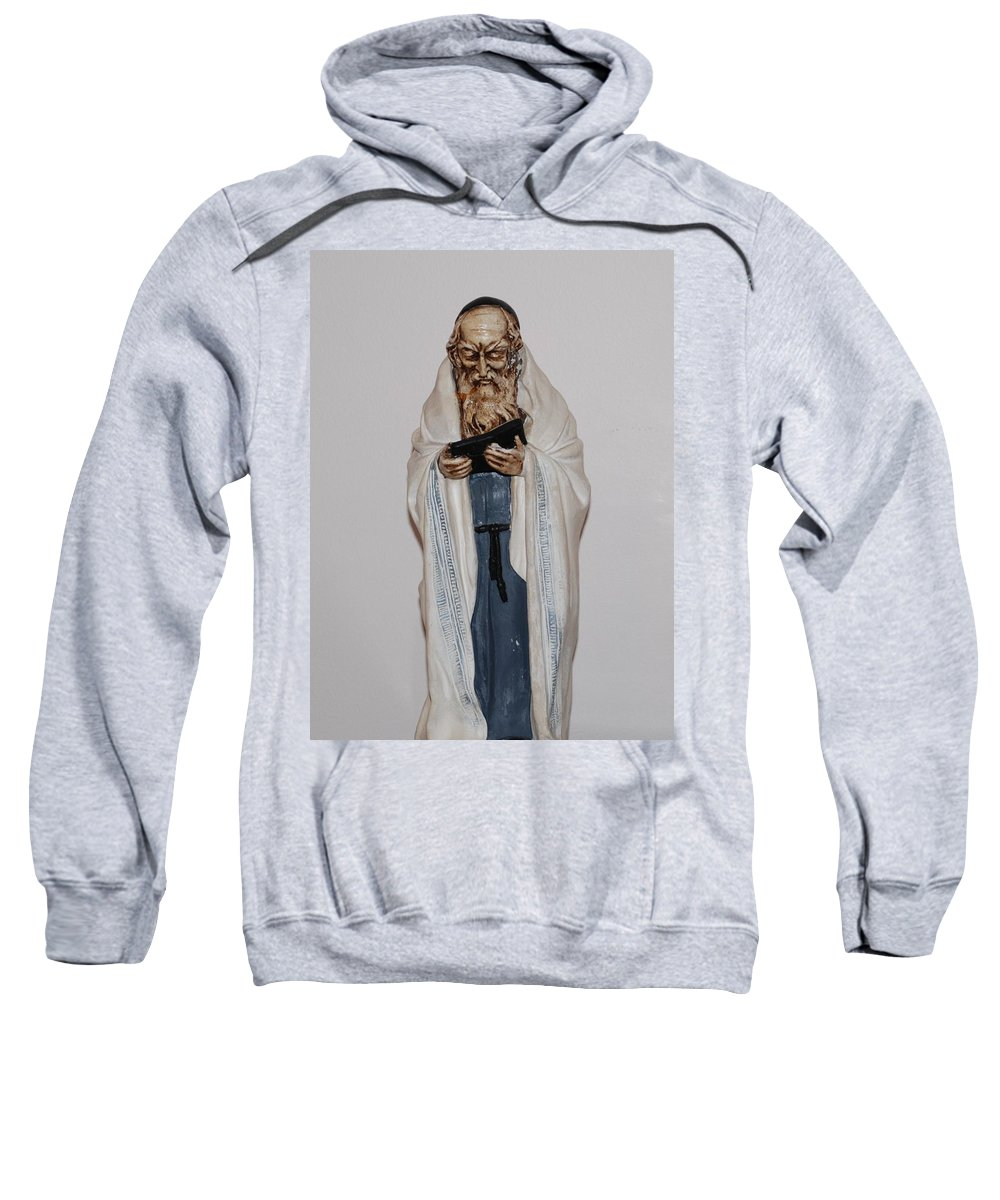 Rabbi Sweatshirt featuring the photograph An Old Rabbi by Rob Hans