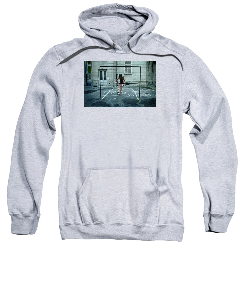 Children Sweatshirt featuring the photograph Ana At The Barre by Michael Ziegler