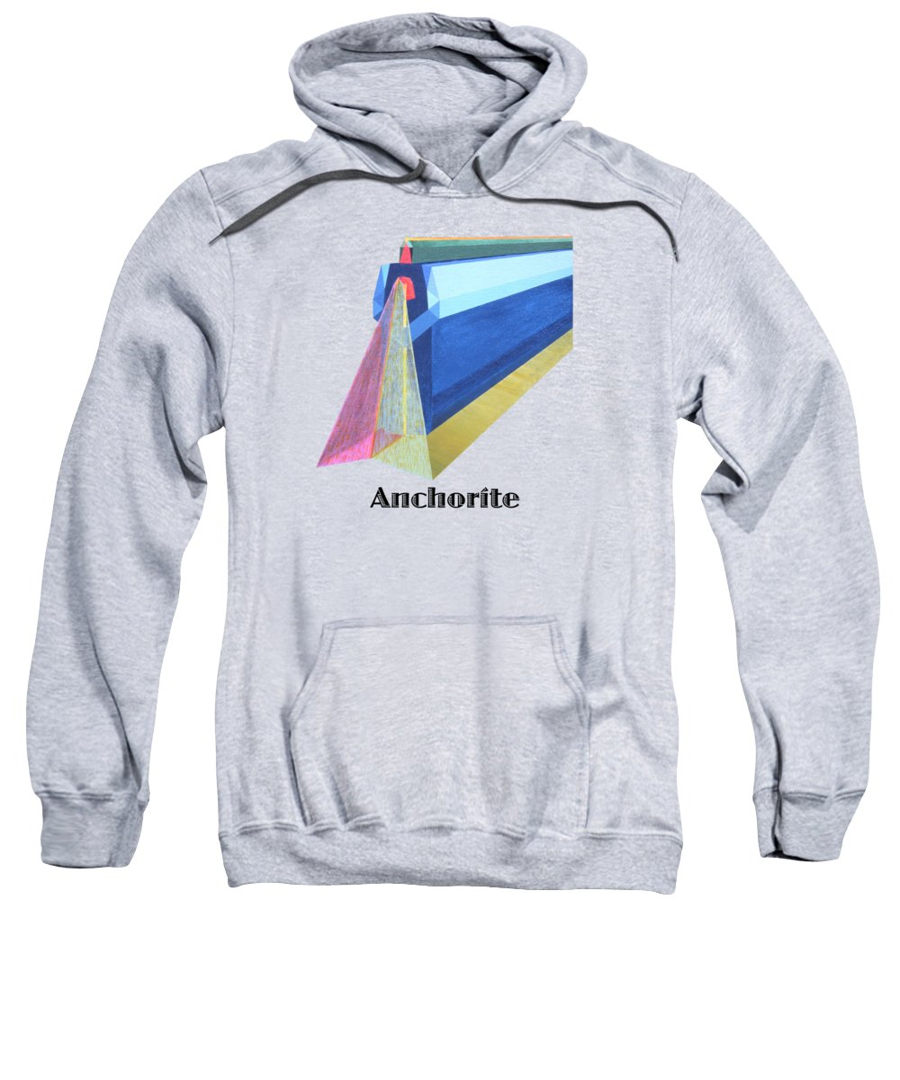 Painting Sweatshirt featuring the painting Anchorite -text by Michael Bellon