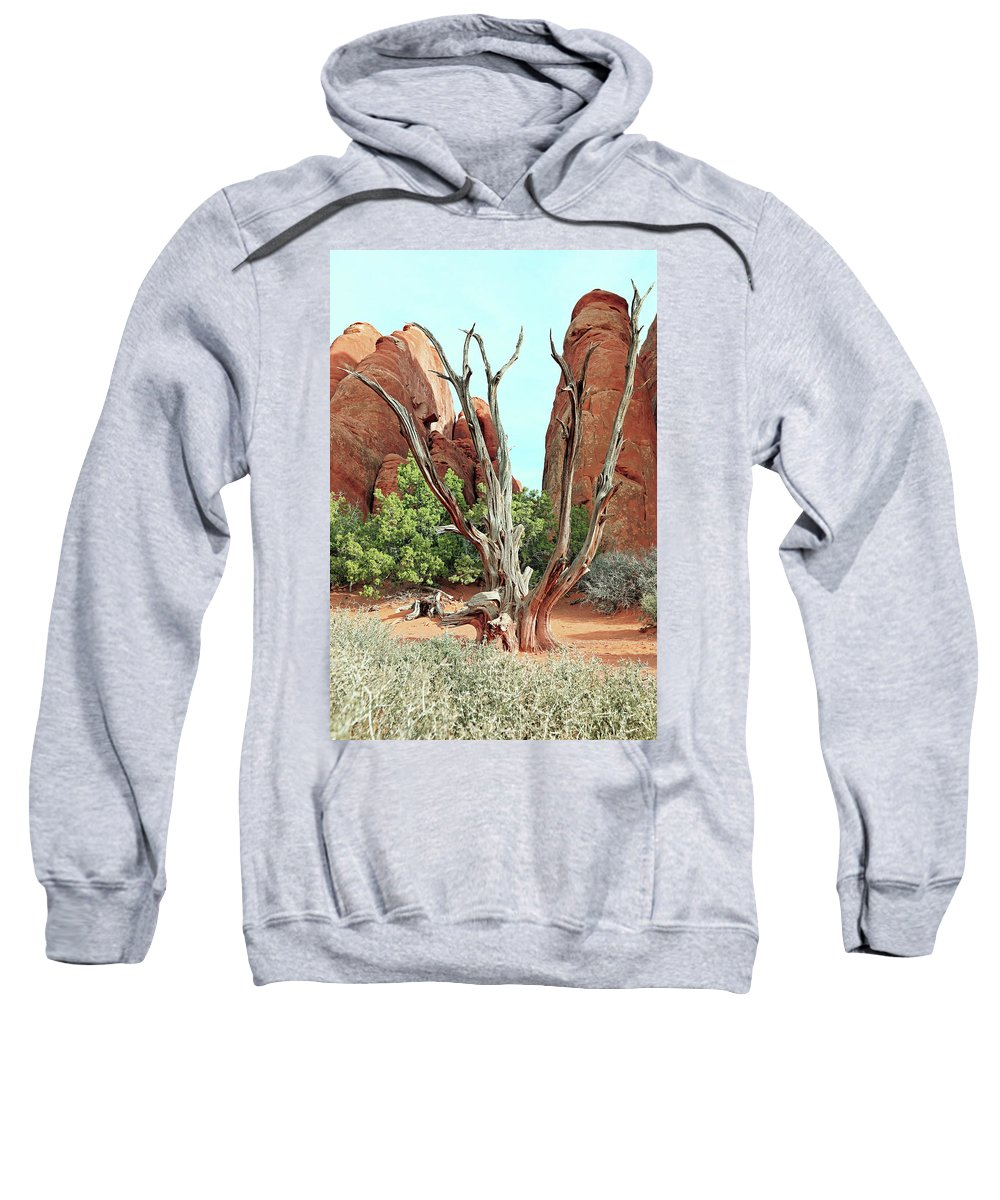 Moab Sweatshirt featuring the photograph Ancient Lands by Richard Fobell