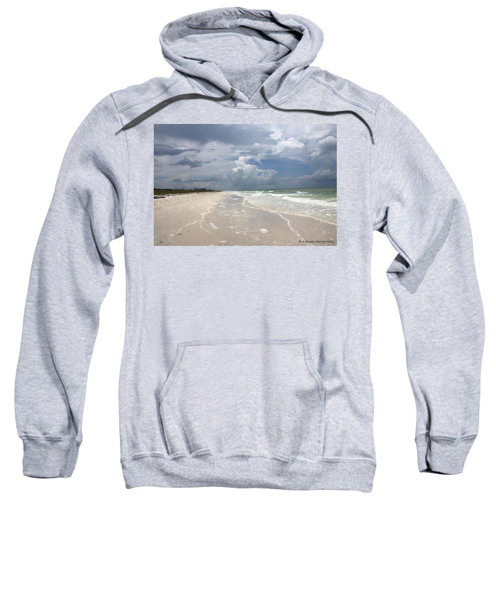Beach Sweatshirt featuring the photograph Anclote Key Beach by Barbara Bowen