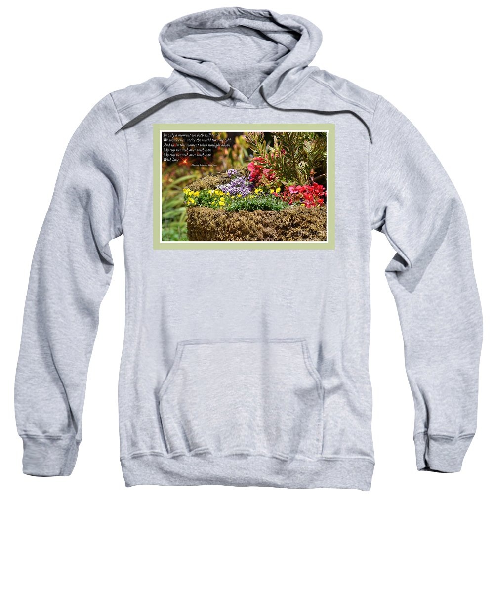 My Cup Runneth Over With Love Sweatshirt featuring the photograph And So In This Moment With Sunlight Above II by Jim Fitzpatrick