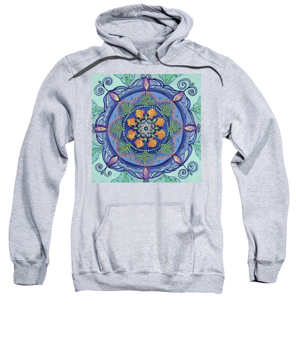 Mandala Sweatshirt featuring the painting And So It Grows Expansion And Creation by Kathleen Rausch