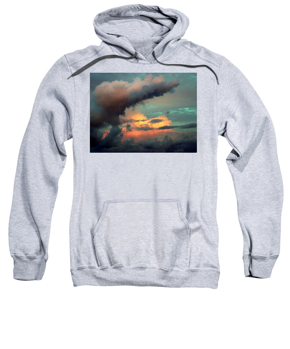 Cloudscapes Sweatshirt featuring the photograph And The Thunder Rolls by Karen Wiles