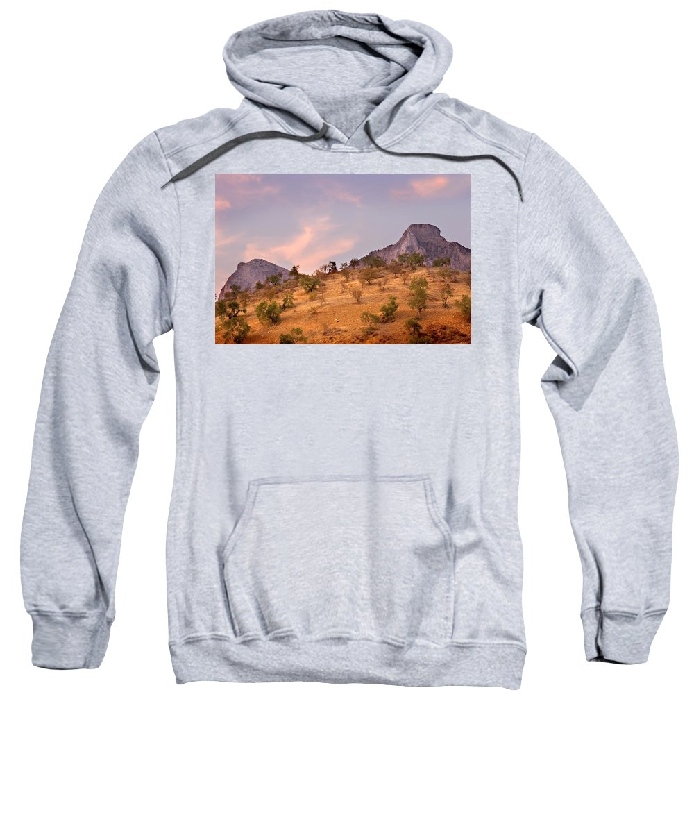Andalucia Sweatshirt featuring the photograph Andalucian Landscape Near Zahara De La Sierra Spain by Mal Bray