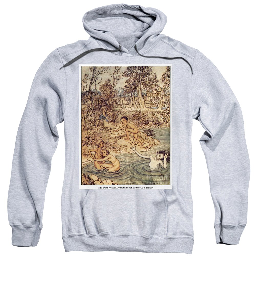 19th Century Sweatshirt featuring the painting Andersen: Little Mermaid by Granger
