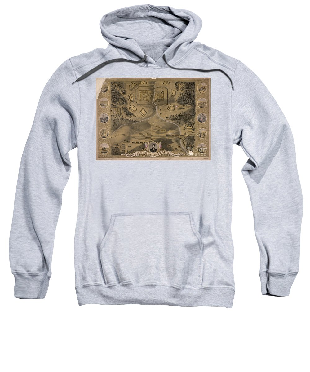 1864 Sweatshirt featuring the photograph Andersonville Prison by Granger