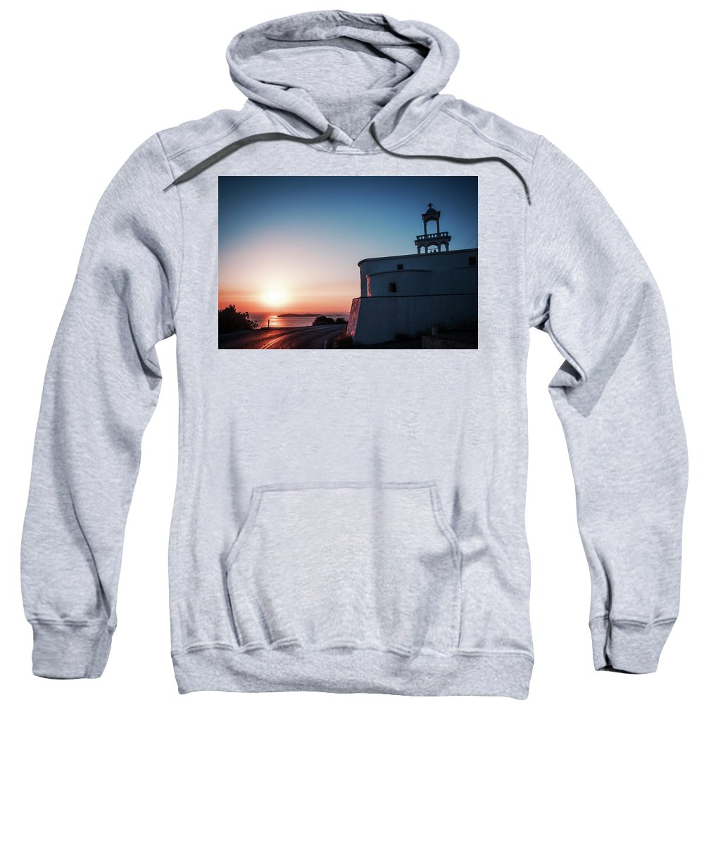 Andros Sweatshirt featuring the photograph Andros Island Sunset - Greece by Alexander Voss