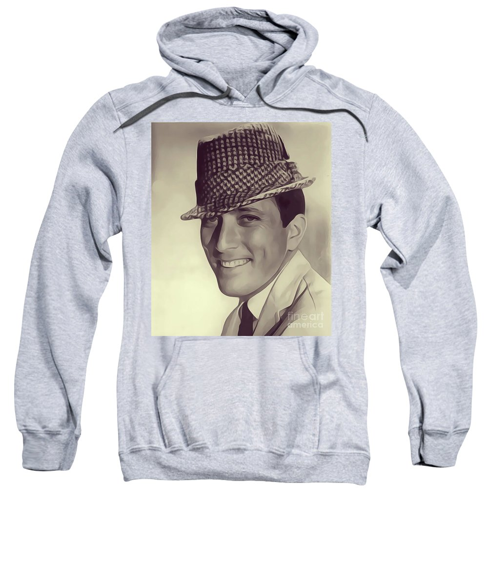 Andy Sweatshirt featuring the digital art Andy Williams, Singer by John Springfield