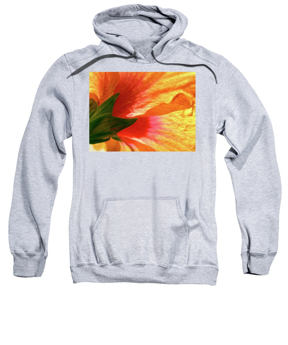 Hibiscus Sweatshirt featuring the photograph Angel Brushstrokes by Marie Hicks