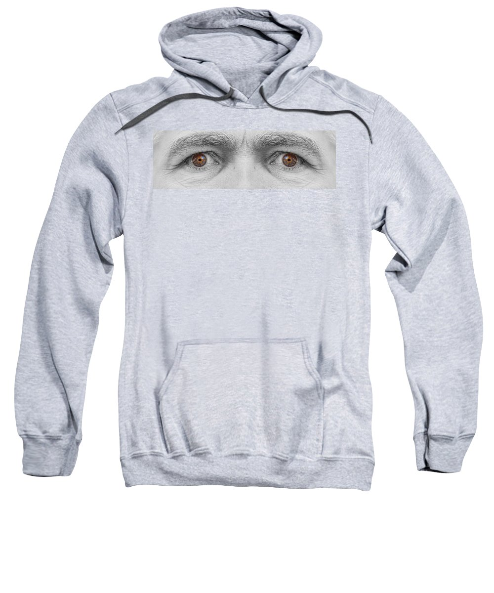 Eyes Sweatshirt featuring the photograph Angry Eyes by James BO Insogna