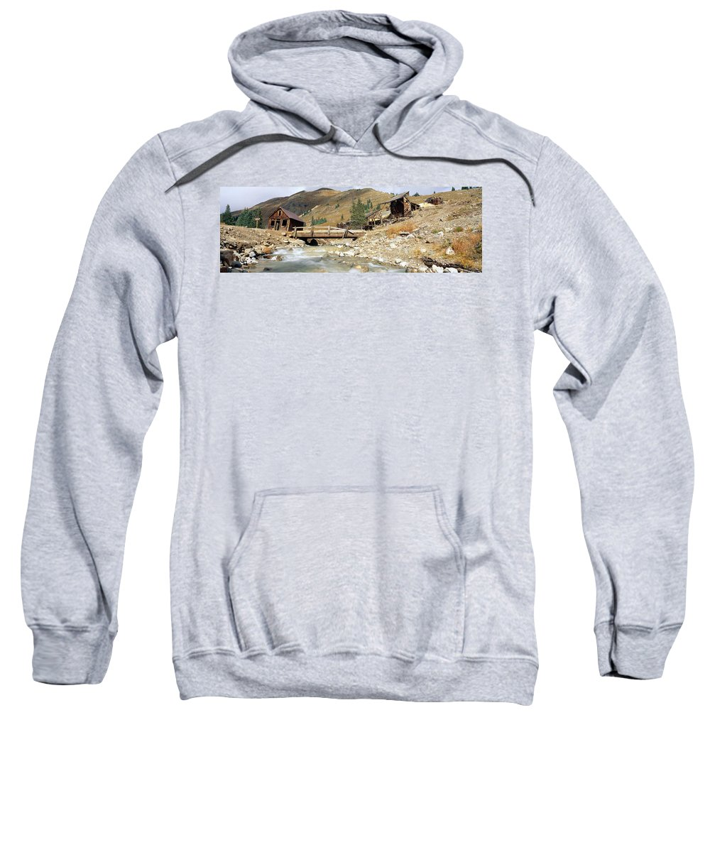 Photography Sweatshirt featuring the photograph Animas Forks Ghost Town, Colorado by Panoramic Images