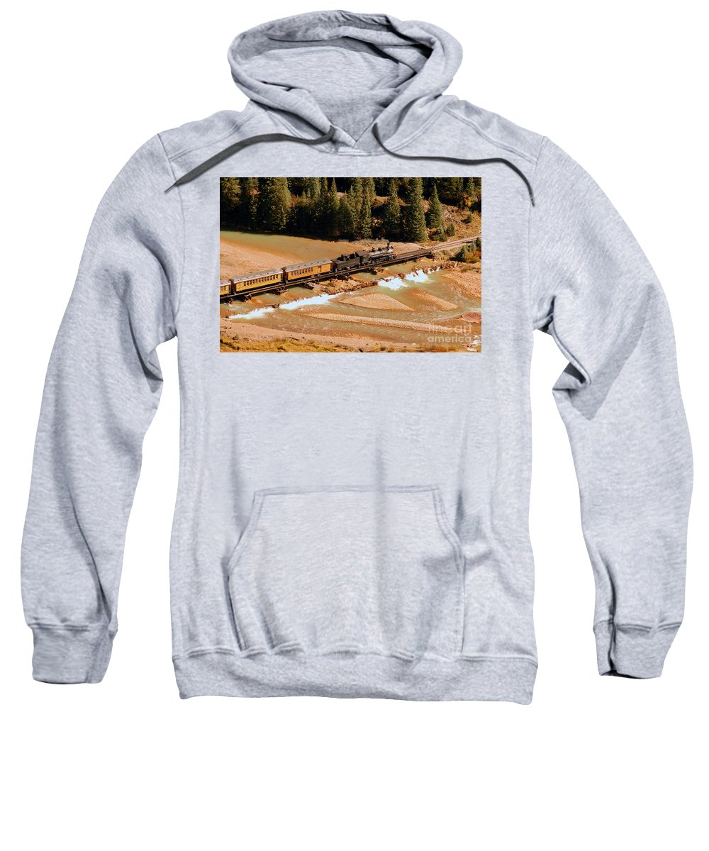 Animas River Sweatshirt featuring the photograph Animas River Crossing by David Lee Thompson