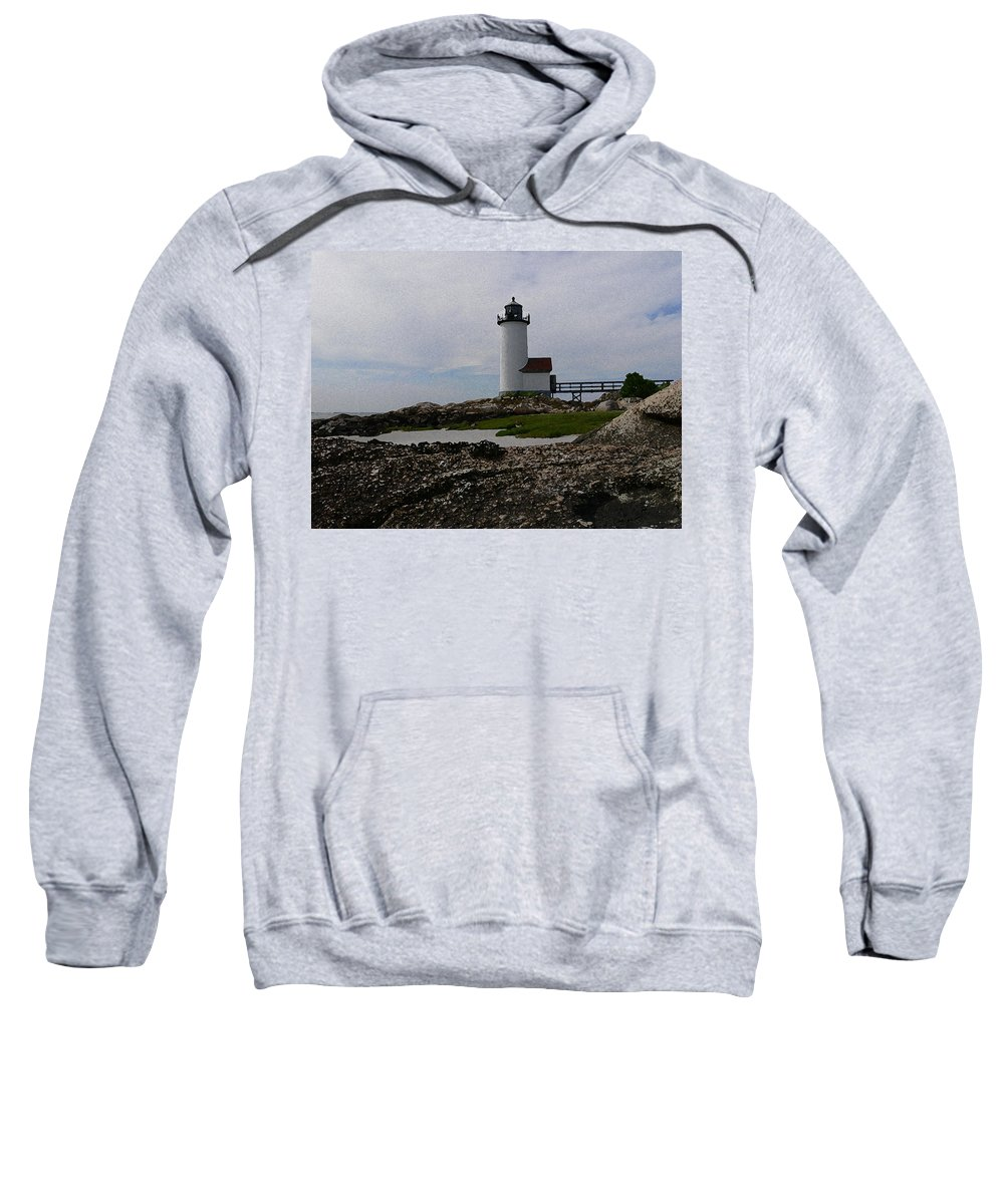 New England Lighthouse Sweatshirt featuring the photograph Annisquam Lighthouse by Nancie DeMellia