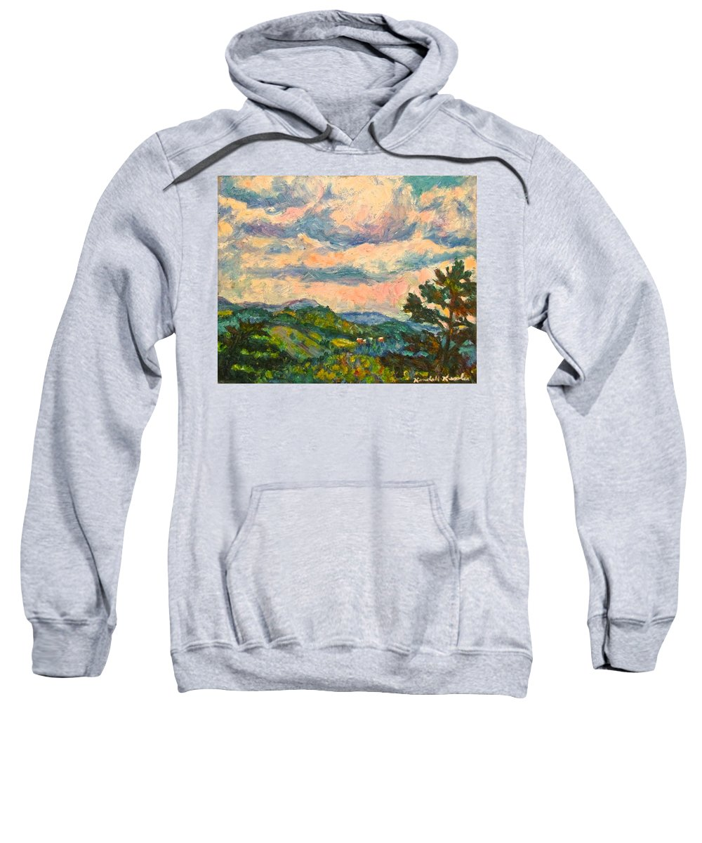 Landscape Paintings Sweatshirt featuring the painting Another Rocky Knob by Kendall Kessler
