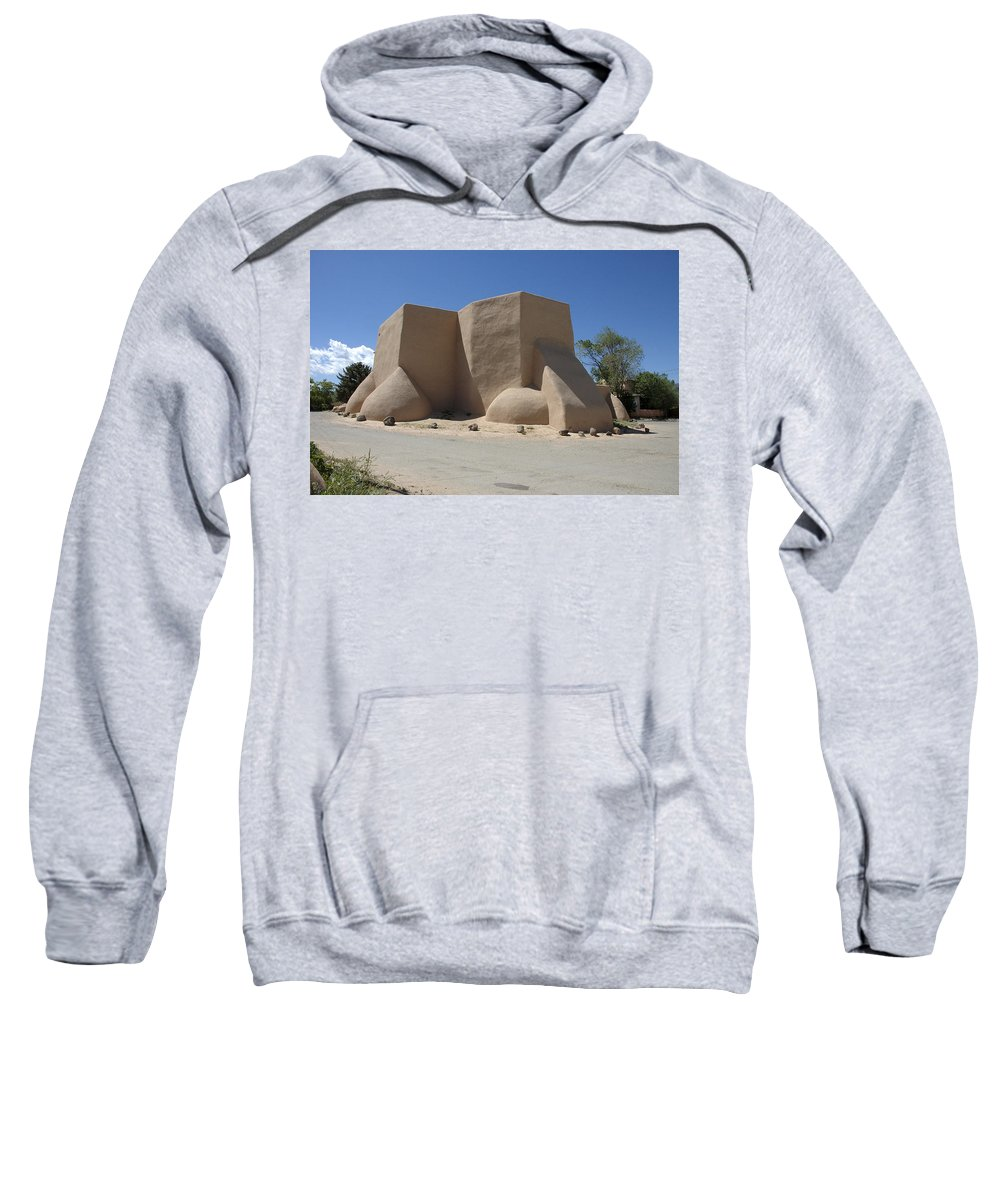 Taos Sweatshirt featuring the photograph Ansel's Church by Jerry McElroy