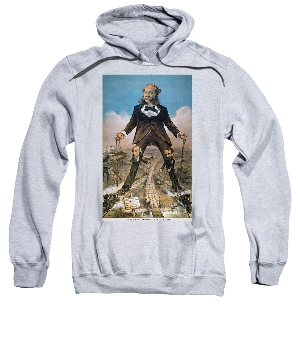 Sweatshirt featuring the painting Anti-trust Cartoon, 1879 by Granger