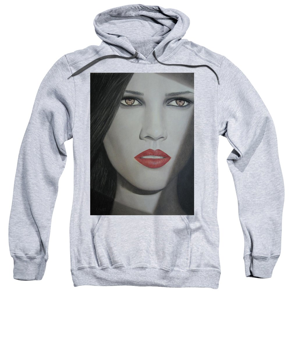 Woman Sweatshirt featuring the painting Anticipation by Lynet McDonald