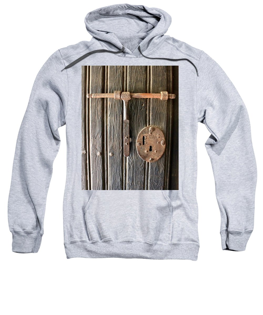 Antique Hardware Sweatshirt featuring the photograph Antique Hardware by Rose Webber Hawke