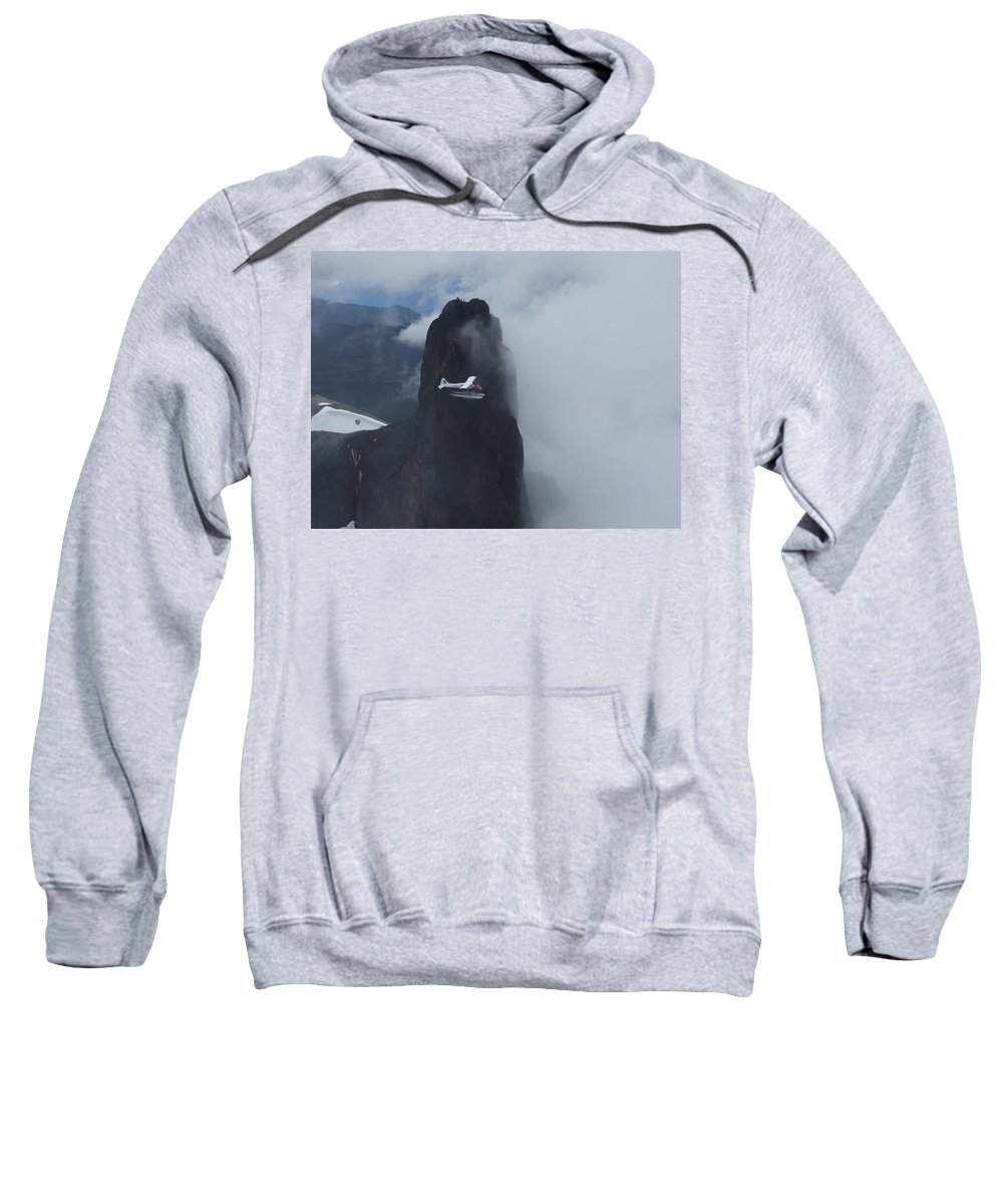 Aviation Sweatshirt featuring the photograph Aop At Black Tusk by Mark Alan Perry