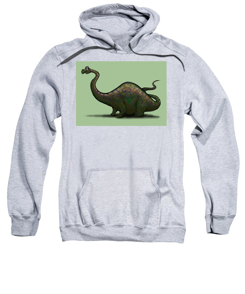 Apatosaurus Sweatshirt featuring the greeting card Apatosaurus by Kevin Middleton