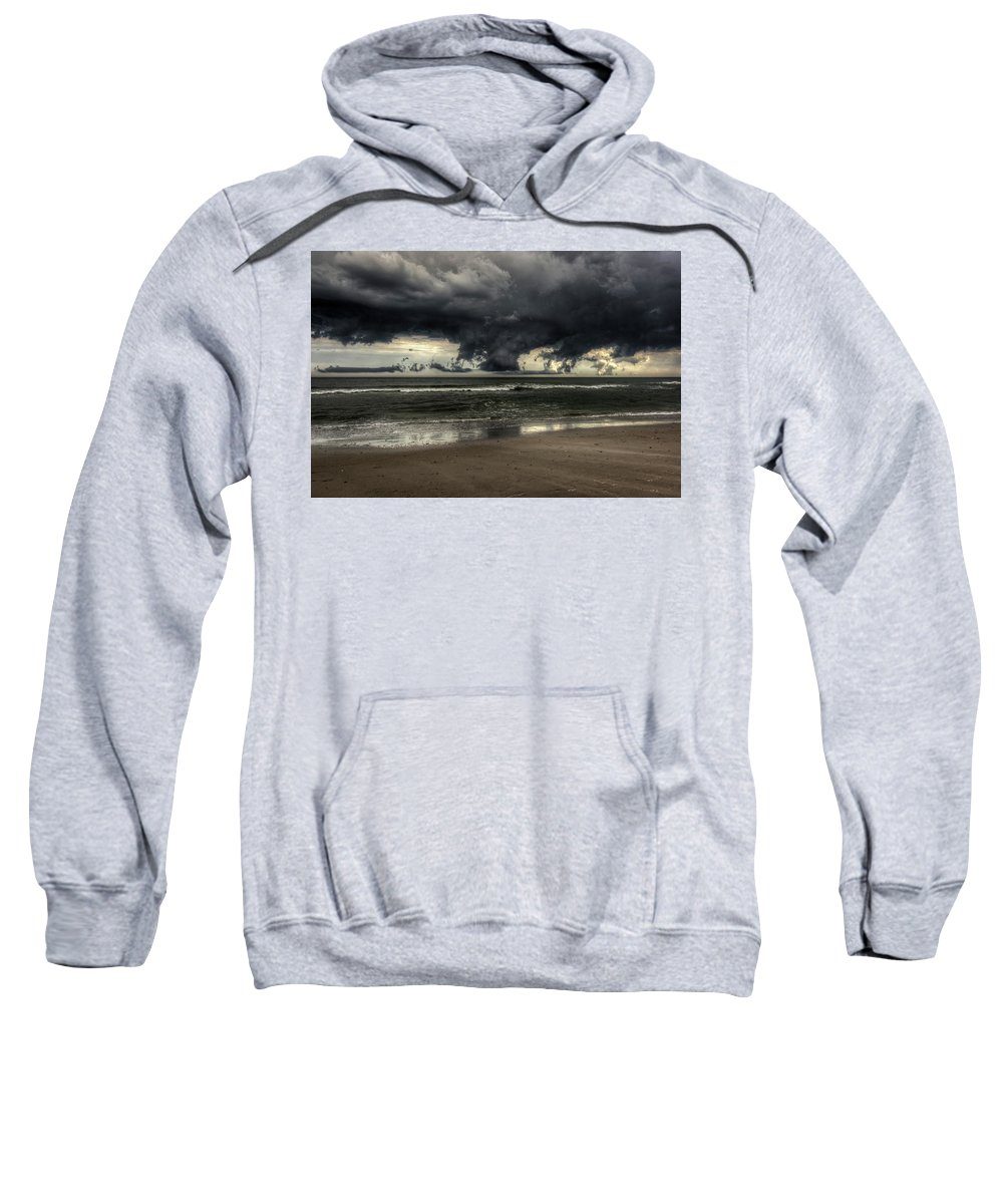 Landscape Sweatshirt featuring the photograph Apocalyptic Clouds Over The Atlantic by Mike Deutsch