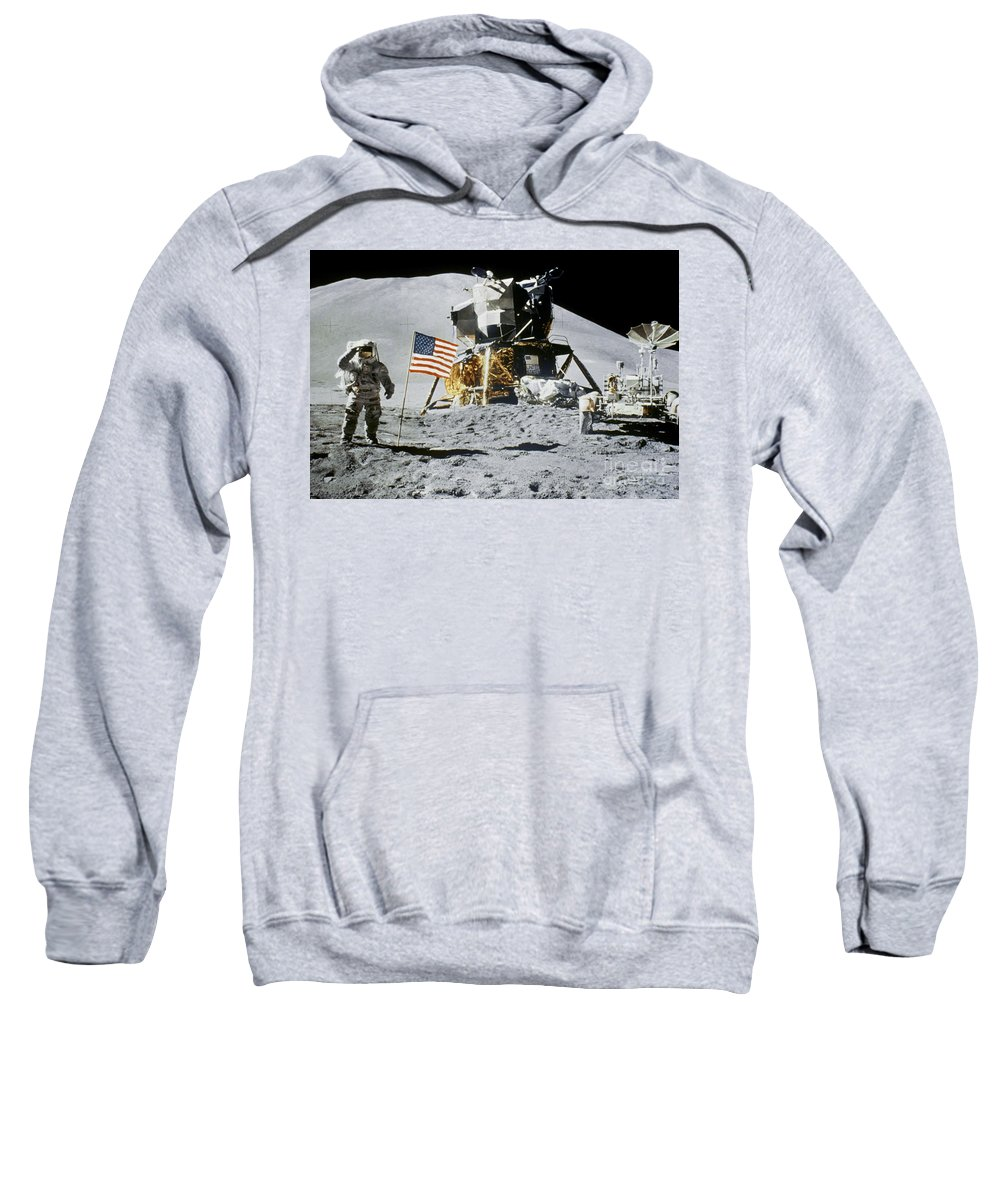 1971 Sweatshirt featuring the photograph Apollo 15: Jim Irwin, 1971 by Granger