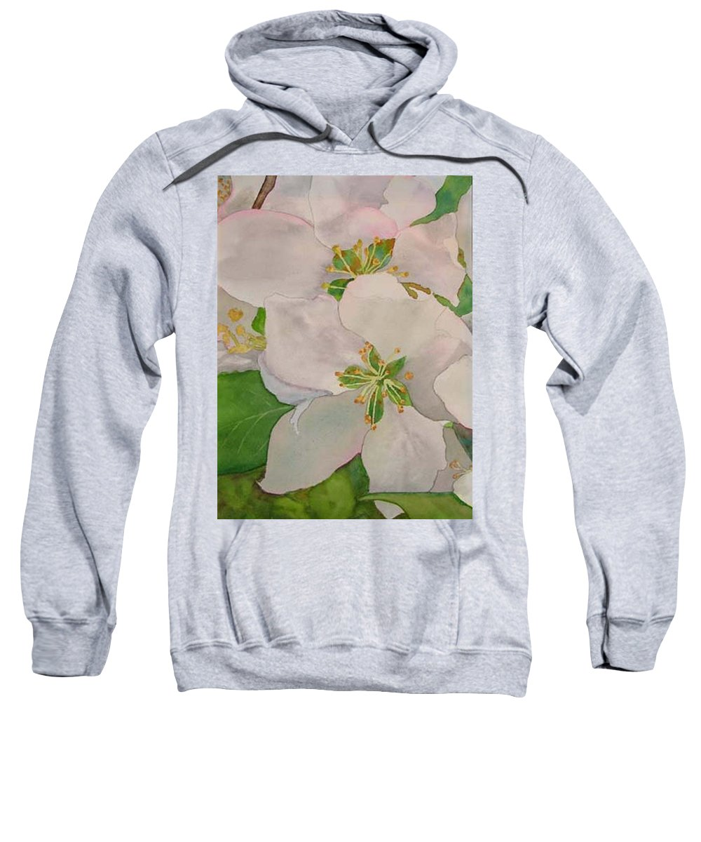 Apple Blossoms Sweatshirt featuring the painting Apple Blossoms by Sharon E Allen