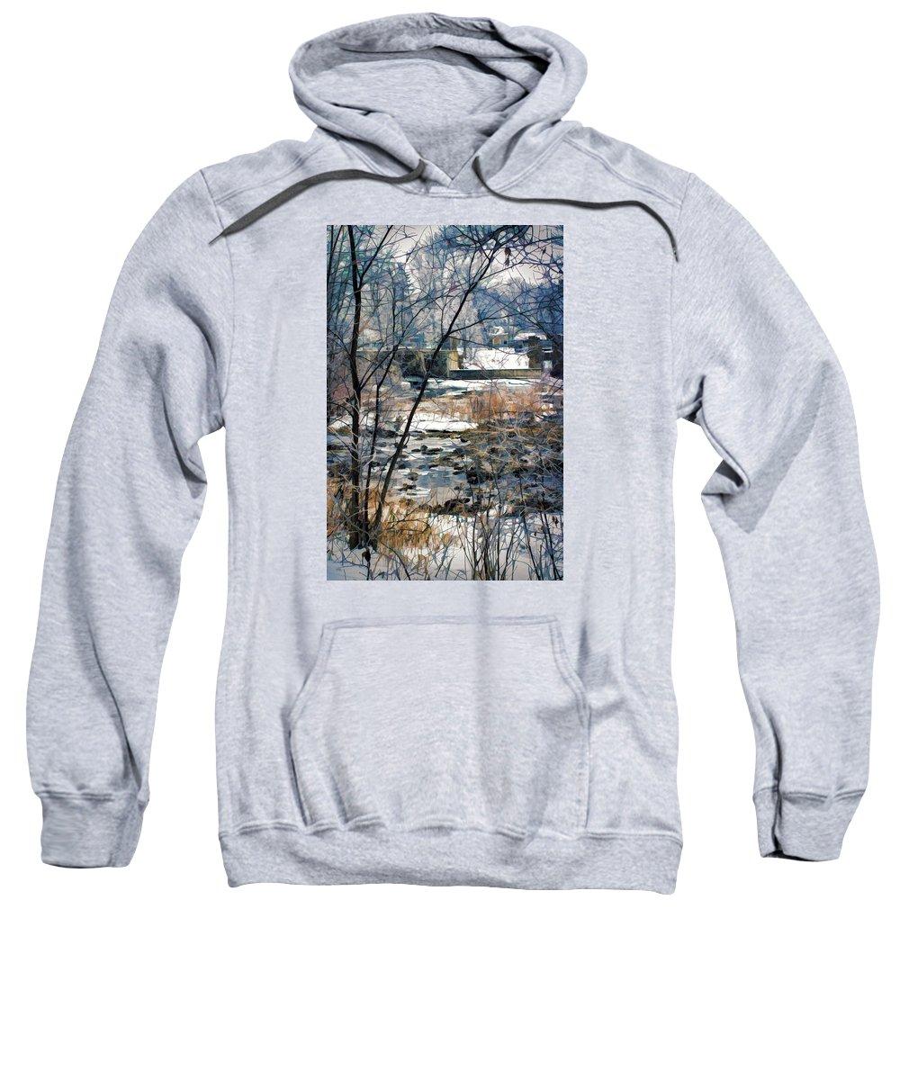 Landscape Sweatshirt featuring the photograph Appleton Waters by Jasmin Mori