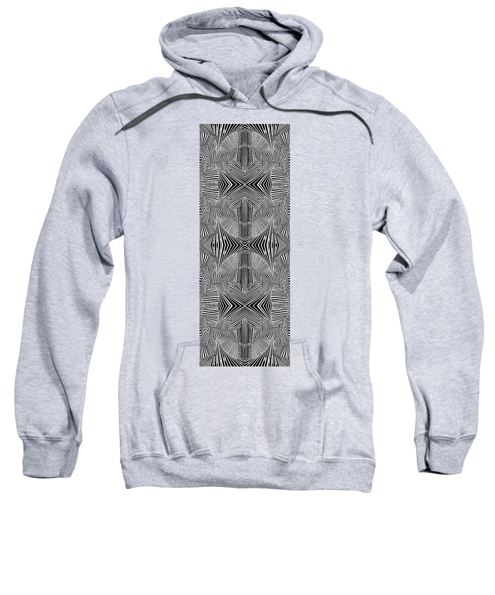 Dynamic Black And White Sweatshirt featuring the painting Apprehensions by Douglas Christian Larsen